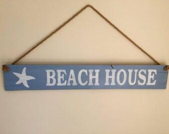 Beach House Sign, Pallet Beach House Sign