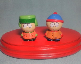 2 South Park figures in PVC rubber.