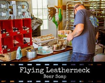 Flying Leatherneck Beer Soap - 5 oz Inglenook Soaps Home Scents Home Goods Leatherneck Soap  Pthtlatate-Free