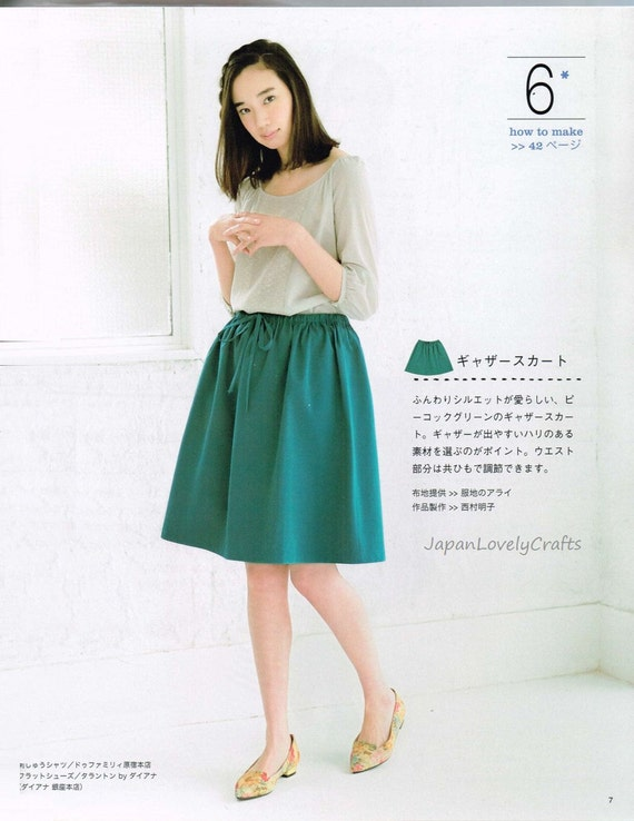 Easy Skirt Pants Patterns Japanese Sewing Pattern Book For Women