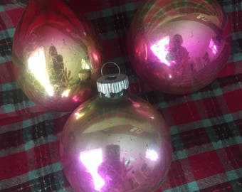 Antique/Vintage Shiny Brite Glass Ornaments
