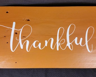 Thankful, Reclaimed Wood Sign, Kitchen Decor, Family Room Decor, Country Decor,Dining Room Decor