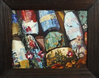 Buoys at Rockport - Oil Painting by Jennifer Brandon