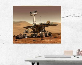 NASA Poster, Mars Poster, Mars Rover Print, Space Exploration, Boys room Decor, Mars Wall Art, man Cave Decor, Astronomy gift, Outer Space