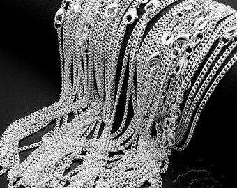 """1pcs 18"""" Silver Plated Flat Curb Chain/Necklace, Elegant and beautiful chain"""