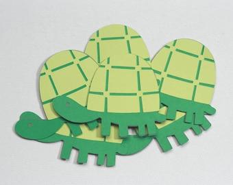 Turtle Die Cuts-Turtle Die Cut-Paper Turtles-Turtle Confetti-Sea Turtle Die Cuts-Turtles-Invitation Supplies-Scrapbook Supplies