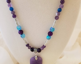 Purple Beauty Pendant Necklace