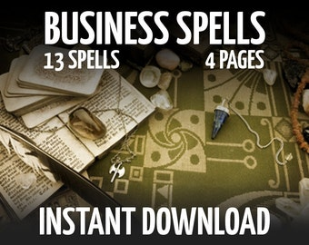 4 Book of Shadows Pages on Business and Self Employment, Wicca, Witchcraft, Printable BOS Pages, Wiccan Instant Download Pages, Witch Book