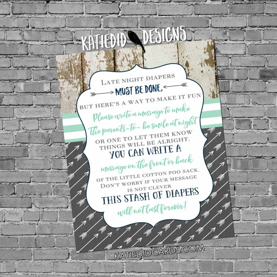 late night diaper sign boy oh boy boho Tribal baby shower invitation diaper wipe brunch mint navy shiplap rustic chic 12120 Katiedid Designs