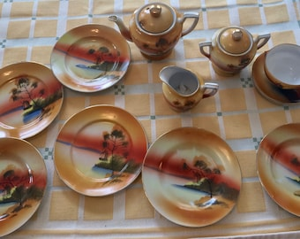 1920s Child's Lusterware Tea Set