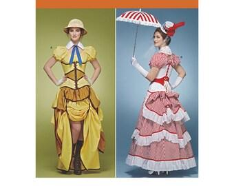 Simplicity 8159, Womens Steampunk Victorian Dress, Bustle, Corset, Skirt, Blouse, Neck band, Tie, Cosplay Lori Ann Costume Designer