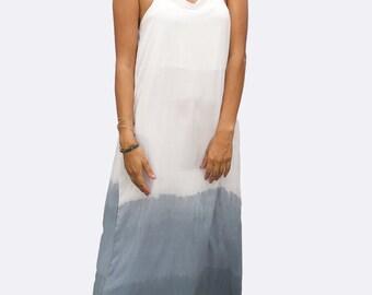 Grey Ombre Strap Dress