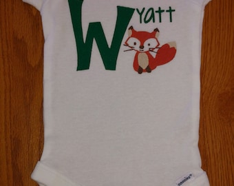 Personalized Fox Design! Perfect for a Woodland or Forest Theme Baby Shower!