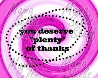 You Deserve Plenty of Thanks Candy Thank you card for goodie gift bag Vacation Bible School Volunteer Helpers Appreciation VBS Teacher