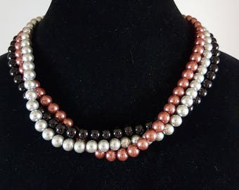 Multi Strand Glass Pearls