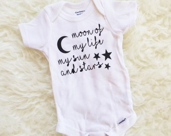 Moon of My Life, My Sun And Stars, GOT, GOT Shirt, Game of Thrones Bodysuit, Game of Thrones Baby Shirt, GOT Baby Shirt, Game of Thrones