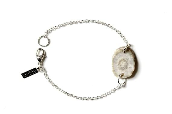 Delicate Antler Charm Bracelet