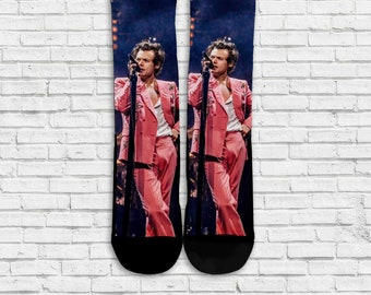 Harry Styles, Harry Styles sock, Harry Styles Custom sock, Printed sock 1pc