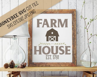 Farm House svg Farm svg Farm decor svg Barn decor svg Barn svg Country decor svg Farmhouse svg Country life svg Silhouette svg Cricut svg