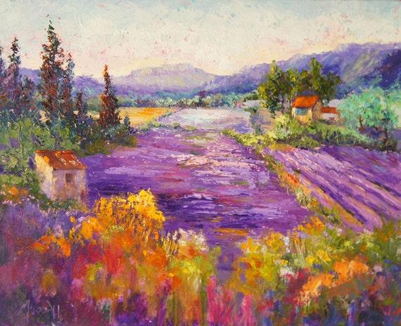 Landschaftsmalerei impressionismus  Landschaftsmalerei Impressionismus Provence Landschaft