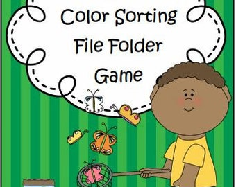 Insect Color Sorting File Folder Game