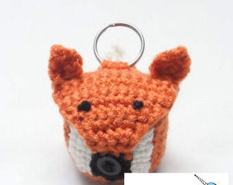 Crochet Fox EOS Lip Balm Holder Pattern. - PATTERN ONLY