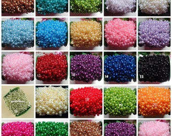 Pearl Beads Chain Garland/trimming price for 2 yard select color