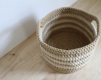 Crochet PATTERN - Crochet Easter basket pattern - Chunky crochet basket pattern - Easy crochet patterns - Crochet storage basket pattern