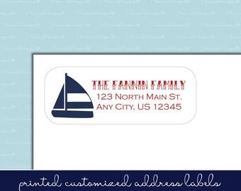 Nautical Anchor Return Address Labels