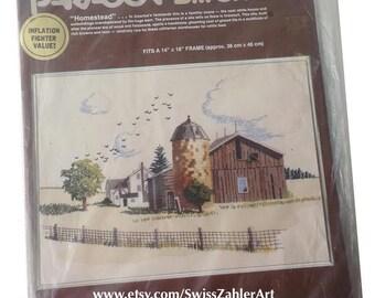 Farn Barn and Silo Homestead Paragon Embroidery Kit