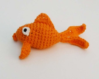 Jingle Bell Goldfish Cat Toy - Choose Your Color