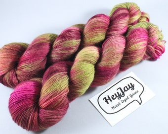 Hand Dyed Ultimate Sock Yarn, BFL High Twist - Fools Gold