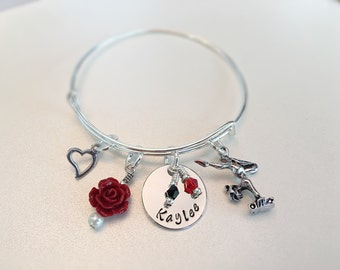 Personalized Gymnast Bangle Team Colors