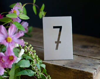 Metal Wedding Table Numbers Modern Table Numbers Industrial Metal Table Numbers Rustic Table Numbers Table Number Signs Stands