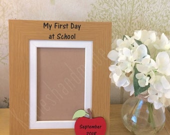 First day of school photo frame - preschool frame - kindergarden - nursery keepsake frame