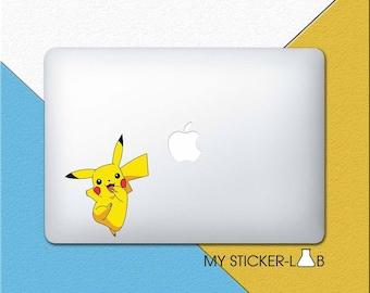 Pikachu MacBook Decal Pikachu MacBook Sticker Pikachu Sticker Pokemon Pikachu Decal Pikachu Pokemon Sticker Pokemon MacBook Decal bn088