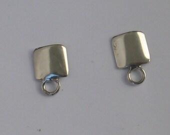 SALE Vintage Sterling Square Post  10mm Earrings
