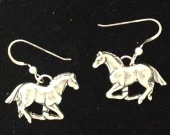 Running Horse Earrings in sterling silver Jewelry Handmade