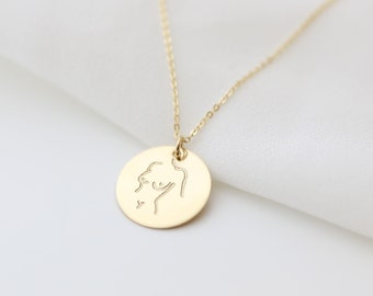 Female Body Necklace // Girl Power Necklace // Female Empowerment Necklace //  Gift for her // La Femme Necklace // Femnist