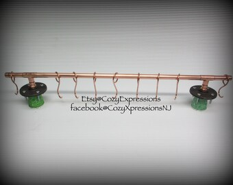 Handmade Copper Pot and Pan hanger | Kitchen Accessory | Copper pan hanger