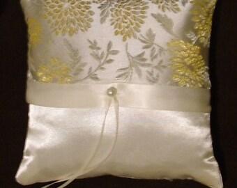 ring bearer pillow custom made elegant ivory