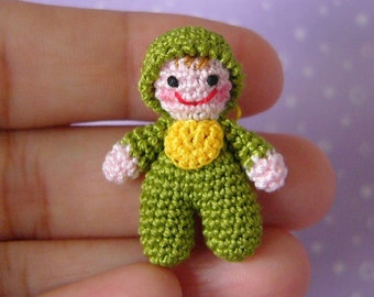PDF PATTERN - Crochet Miniature Itty Bitty Baby Doll - Amigurumi Tutorial