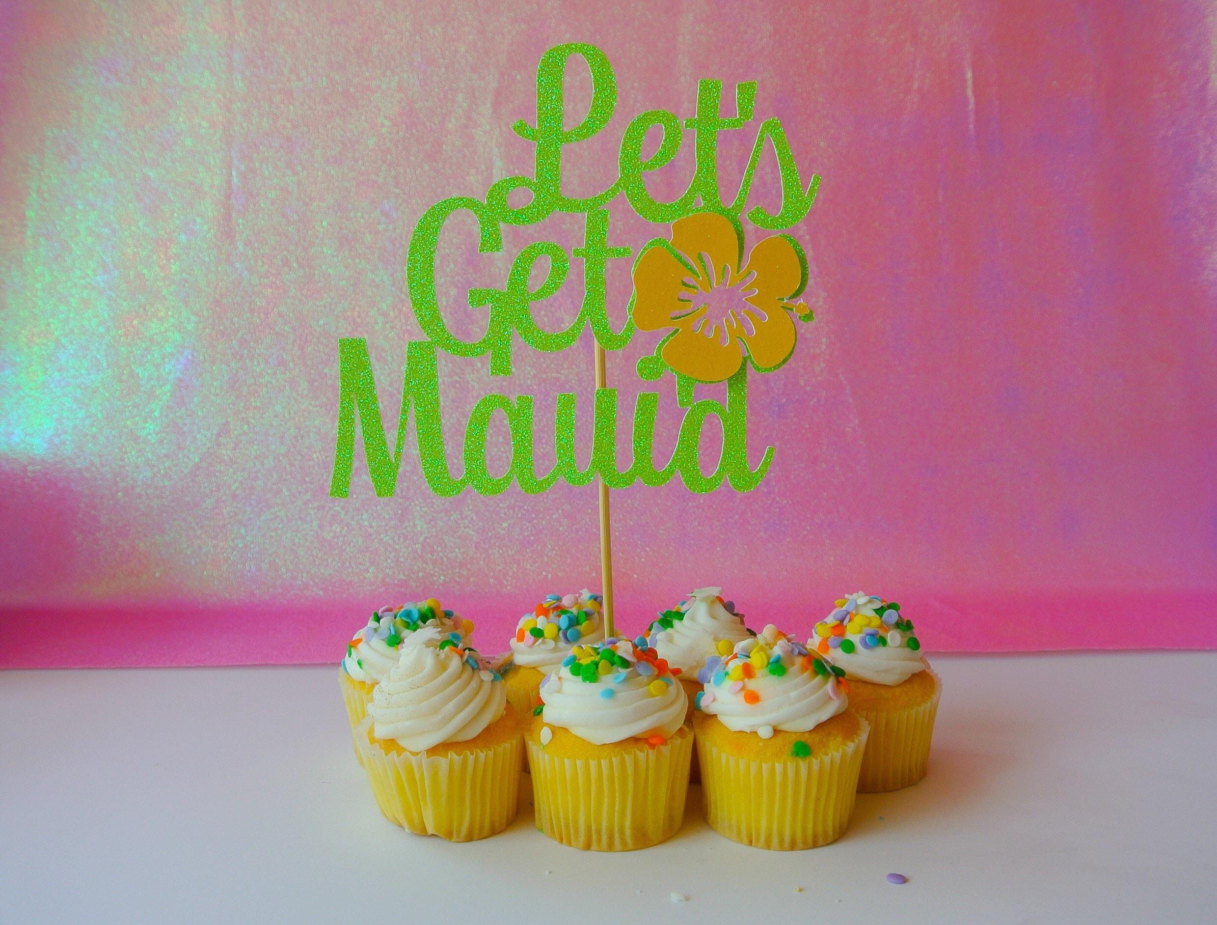Lets get maui\'d Cake topper. Wedding cake topper. Bridal shower ...
