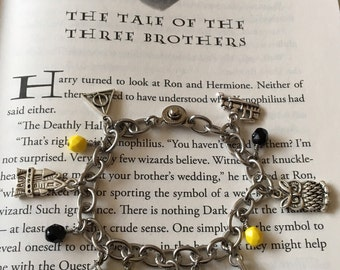 Harry Potter Inspired Hufflepuff Charm Bracelet