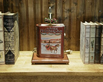 Winter Wonderland Book Lamp