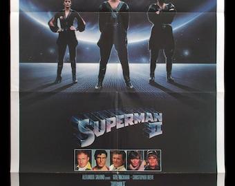 SUPERMAN II original 1980 teaser movie poster Christopher Reeve Margot Kidder