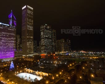 Chicago, IL Cityscape Photography Urban Long Exposure Wall Art