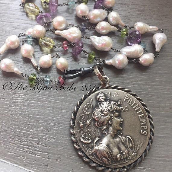 Art Nouveau Medallion Necklace