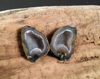 Happy Tabasco Geode Pair #