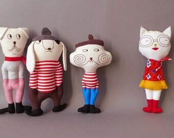 Moustache - Cat Plush Toy stuffed Doll Plushie Softie